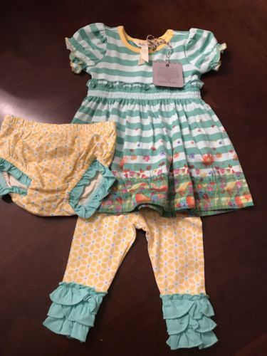 52c15d4e73db4 Bottoms 163175: Matilda Jane Size 3-6 Months Field Of Daisies Dress And Magic  Word Leggings -> BUY IT NOW ONLY: $45 on eBay!