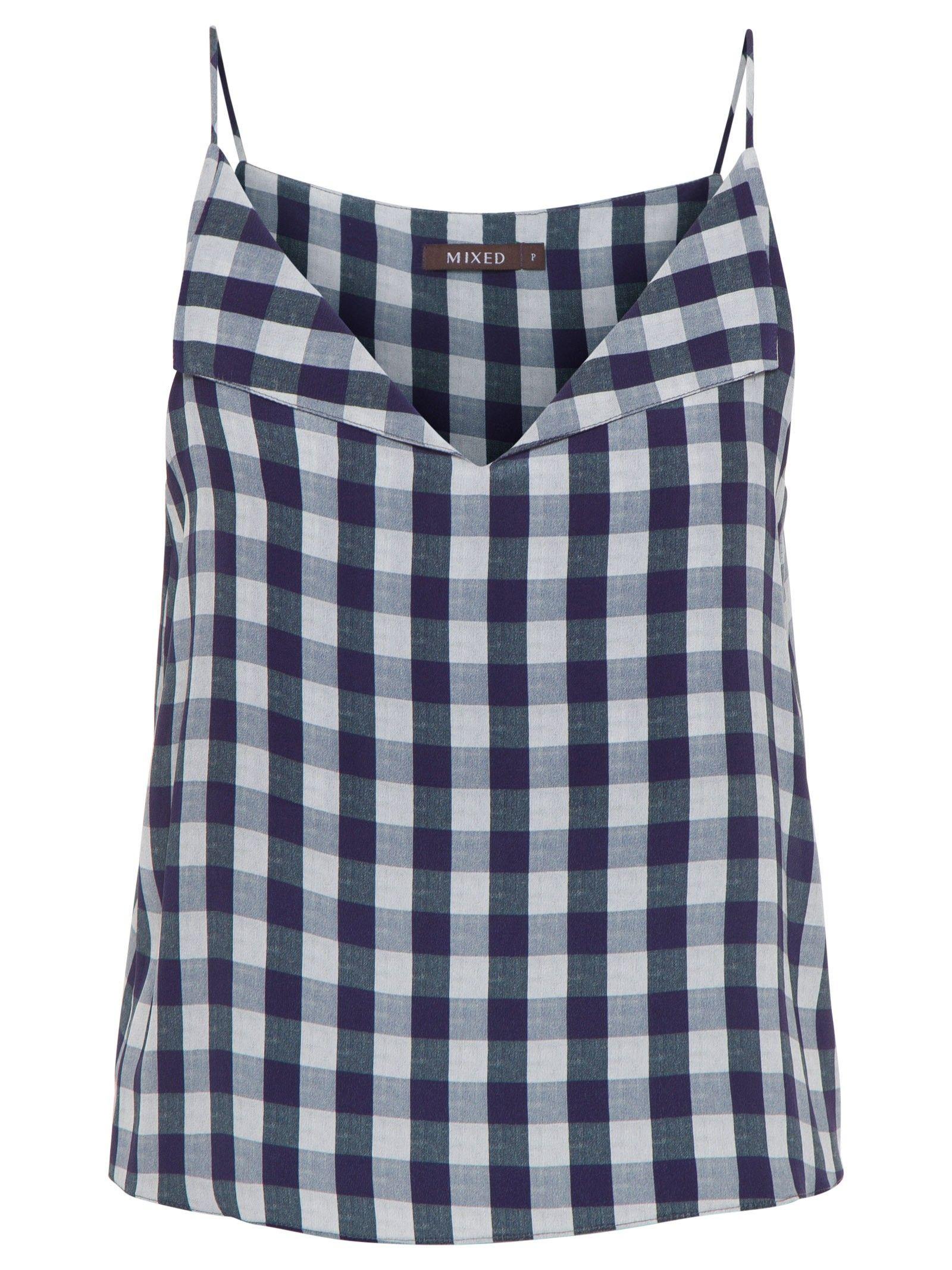 3c3aa42a3 Regata Feminina Fresh Vichy - Mixed - Azul - Shop2gether Camiseta Regata  Feminina