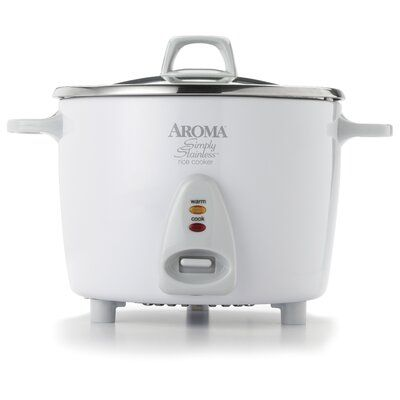 Aroma Aroma Rice Cooker Size: 14 cup, Finish: White