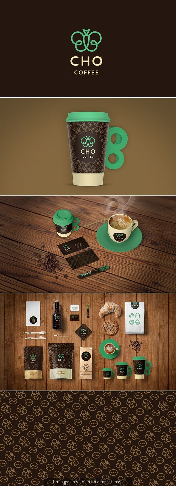 Designgrafico Papelaria Identidadevisual Cafe Marrom Coffee Branding Branding Shop Coffee Logo