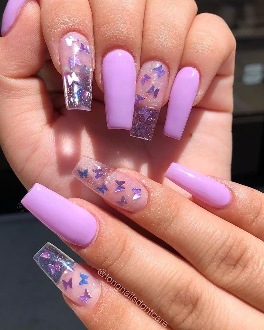 We Needs Ambassadors Ig Adn Studios1 Clear Acrylic Nails Butterfly Nail Designs Purple Nails