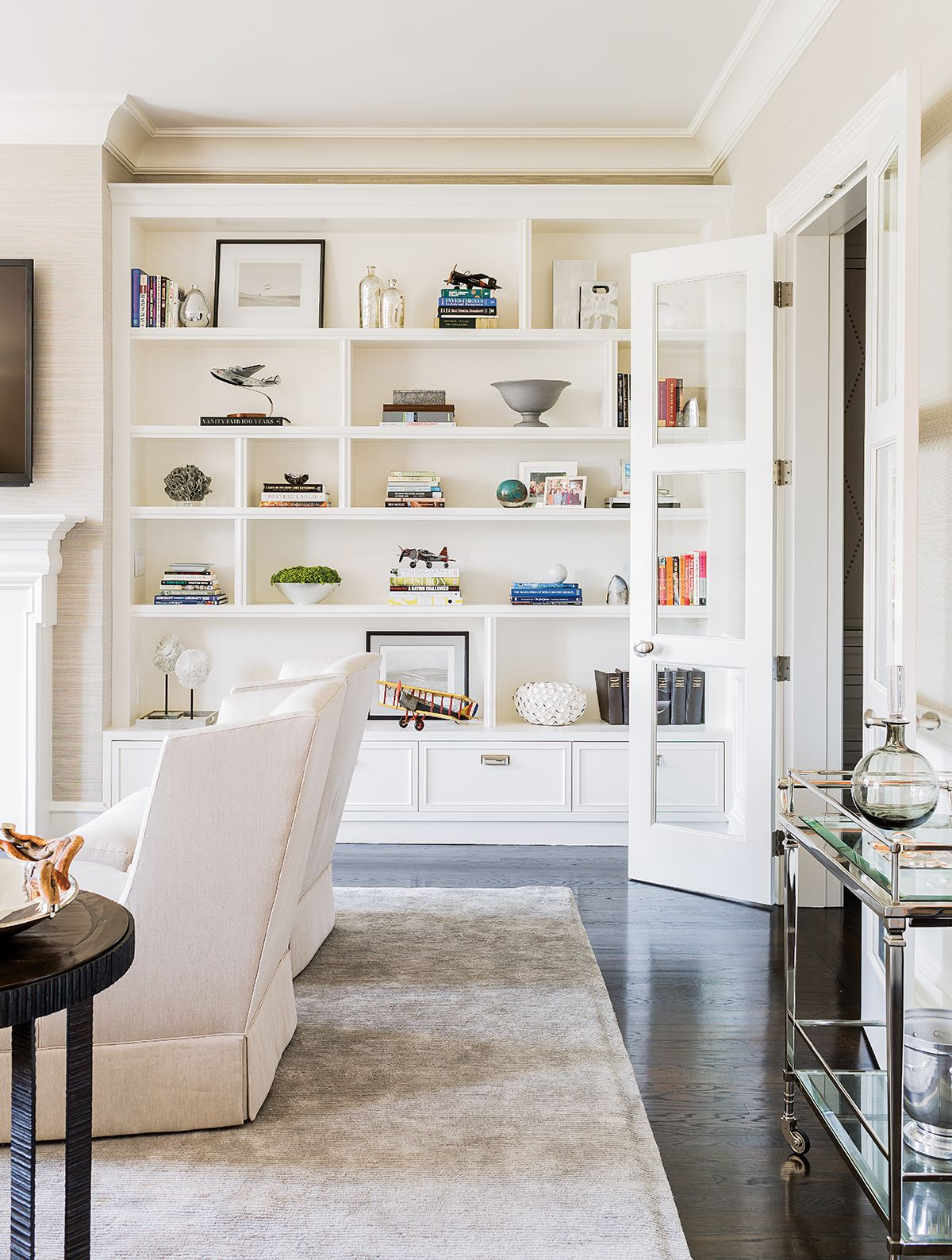 Shades of Chic | Penthouses, Living room bookcase and Traditional ...