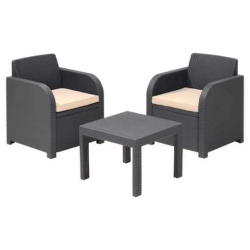 Buy Allibert Atlanta Rattan Effect Balcony Furniture Set from our ...