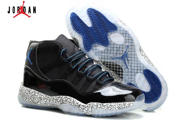 reputable site 4ad4c adf3d Men s Air Jordan 11 Retro Glow Elephant Print Basketball Shoes Black Royal  Blue,Jordan