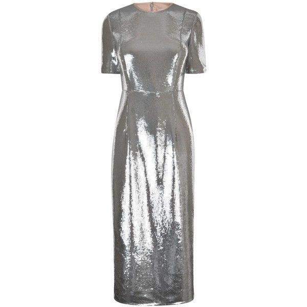 DIANE VON FURSTENBERG Tailored Sequin Dress (12.075 ARS) ❤ liked on ...