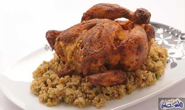 دجاج محشي بالفريك داخل الفرن Recipes Food Cooking