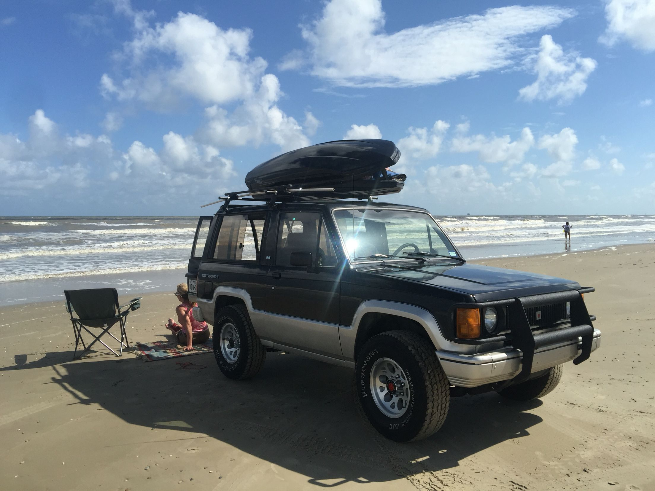 1989 isuzu trooper rs a day at the beach | jackaroo | pinterest