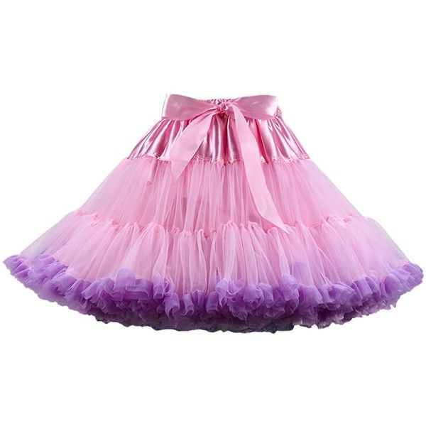 Anmengte Women's Chiffon Prom Evening Occasion Accessory Tutu Skirt... ($29) ❤ liked on Polyvore featuring dresses
