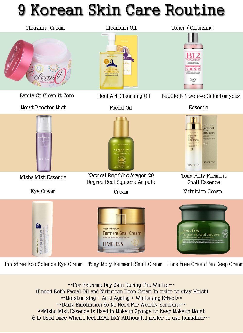 Ladyfoxblogger 9 Step In Korean Skin Care Routine Ladyfoxblogger Personal Routine Lady Fox Makeup B Korean Skincare Routine Skin Care Acne Korean Skincare
