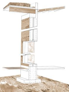 rammed earth wall to roof section detail - Google Search