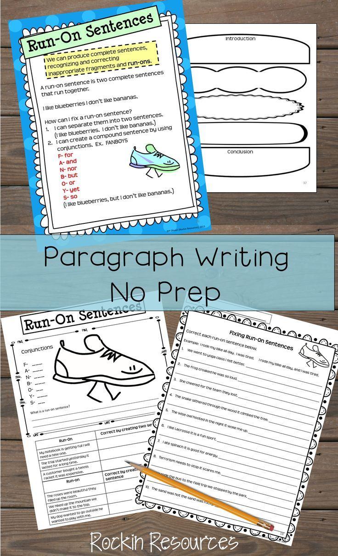 Paragraph Writing Sentences How To Write A Paragraph Distance Learning Paragraph Writing Sentence Writing Teaching Writing