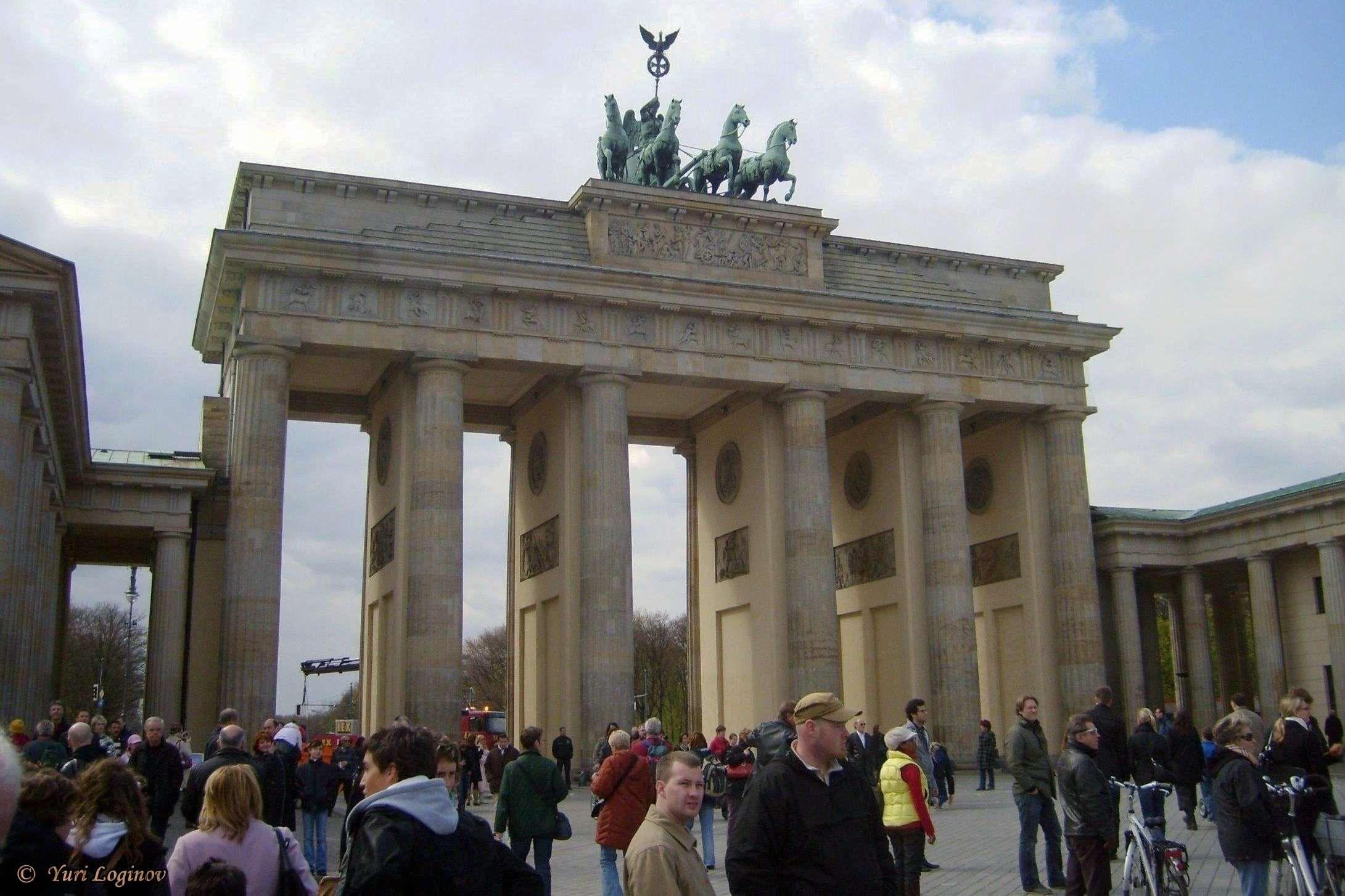 Berlin Brandenburg Gate Brandenburger Tor Deutschland Germany Mitte Street View Travel Landmarks
