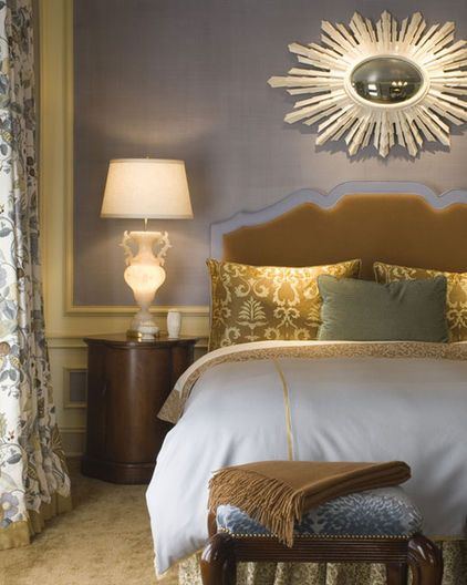 A Starburst Mirror Over Large Scale Piece Like Bed Sofa Or Fireplace Creates Great Focal Point