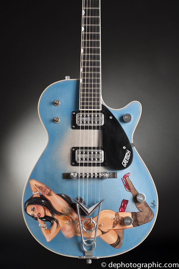 Custom Shop Gretsch Guitar Photographed By Double Exposure