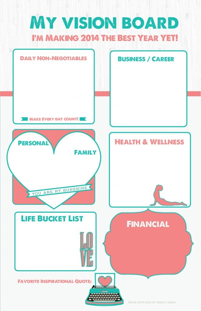 Here is one way to #create a #visionboard As I study memory, these - inspiration 8 value statement examples for business