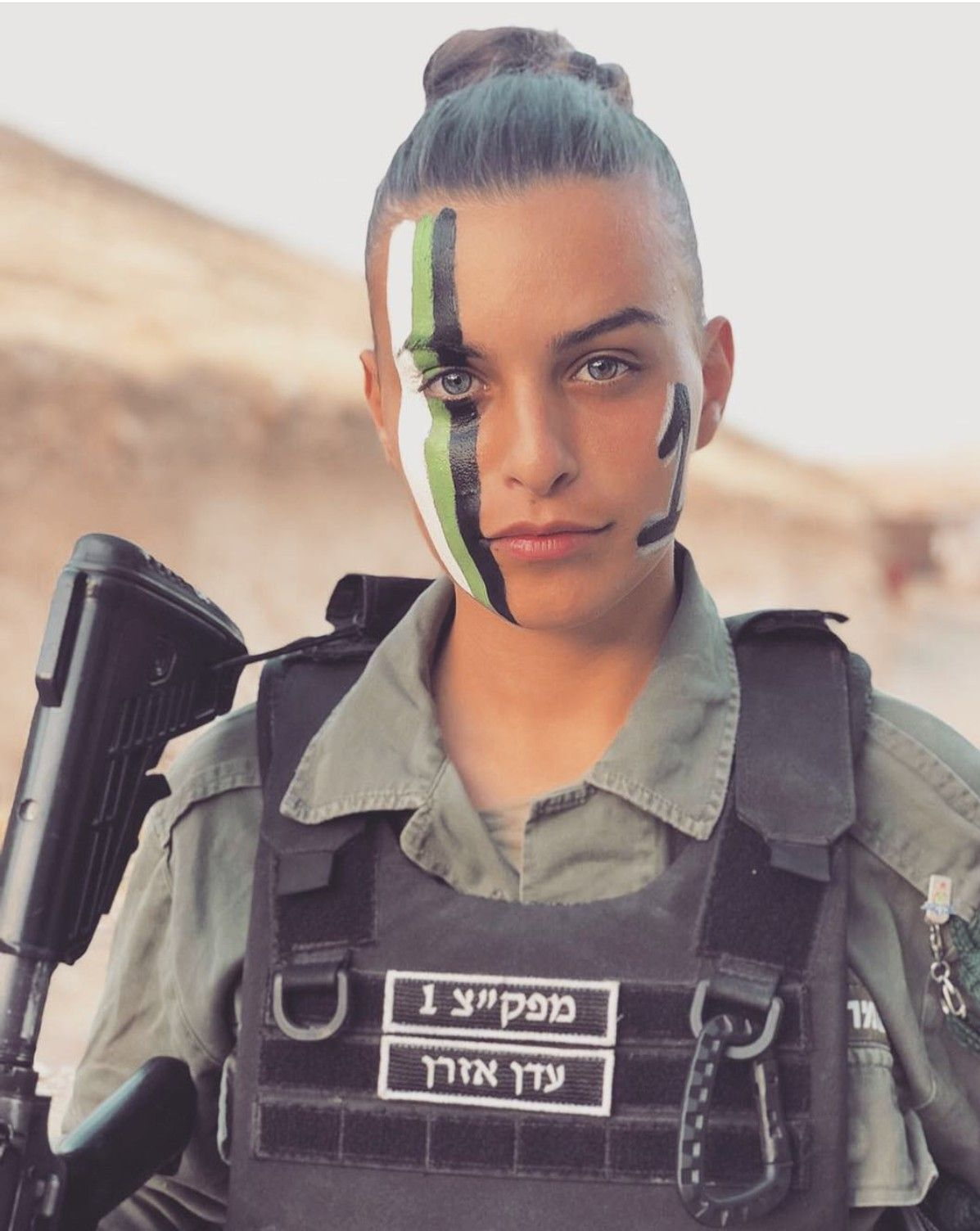 Argentine army girl facial