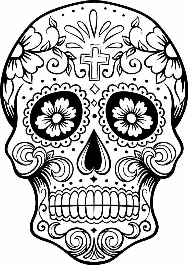 Sugar Skulls Coloring Pages Free   sugar skulls coloring pages free ...