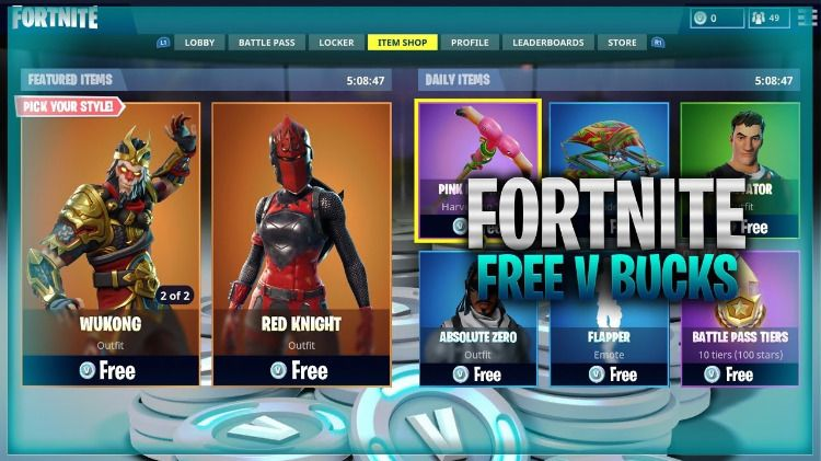 Win A Fornite Battle Royale Giveaway Generate Unlimited Free V