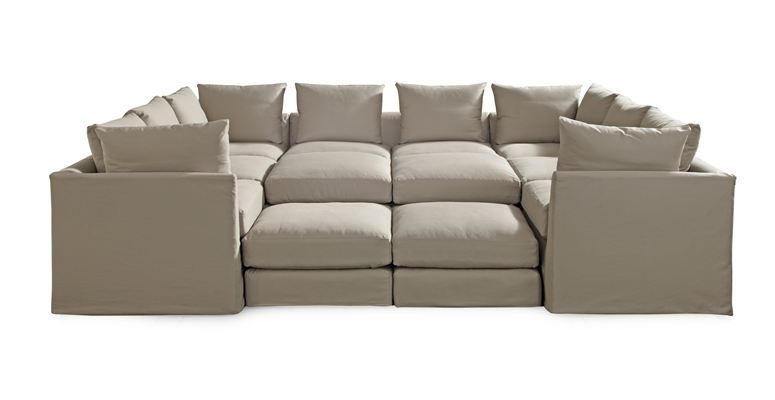 Dr Pitt Slipcovered Sectional By Mitc Gold I Really Want One For The Bat