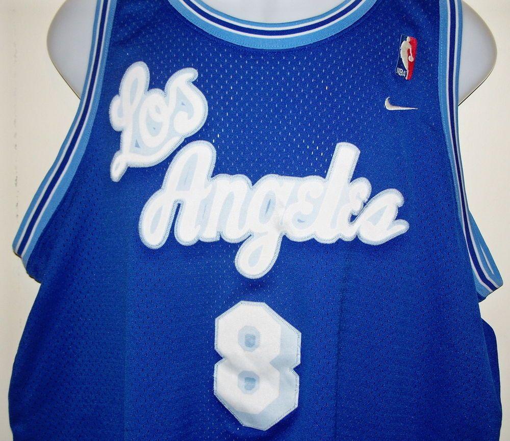 new york 7ce52 85ed0 Retro Kobe Bryant Nike Los Angeles L.A. Lakers Blue #8 NBA ...