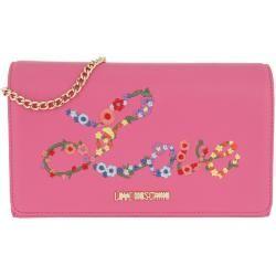 Photo of Love Moschino Nappa Pu Chain Crossbody Bag Fuxia in pink shoulder bag for women Moschino