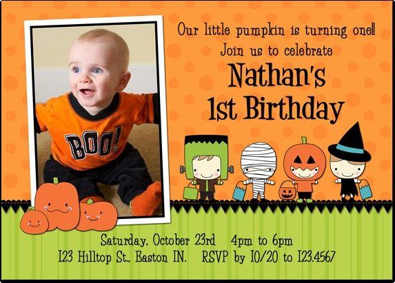 Halloween First Birthday Party Invitation Idea