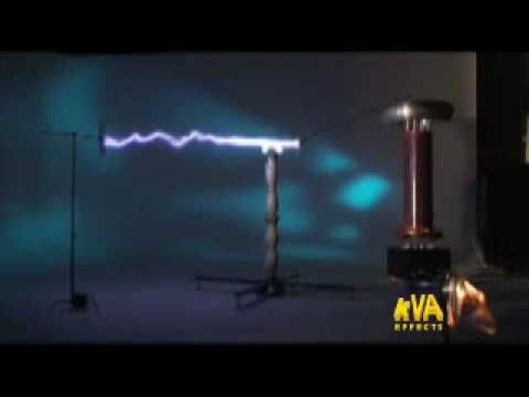 kVA Effects Argon Cannon Tesla Coil
