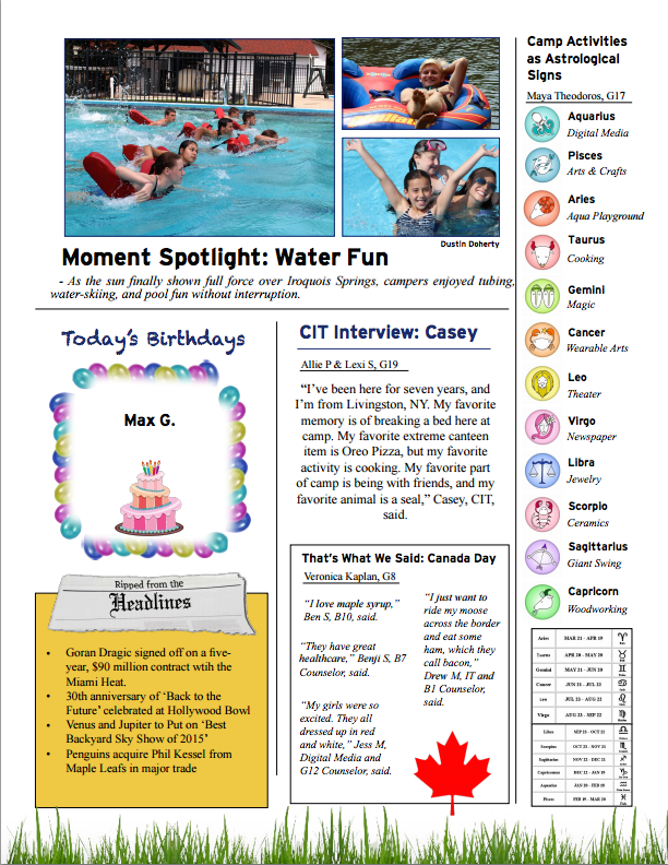 July 2, 2015 Newsletter Part 2