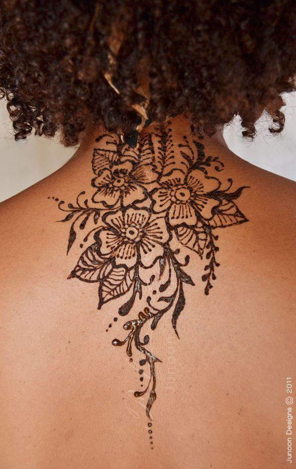 Henna Tattoo Neck Designs: Junoon Designs » Henna Back
