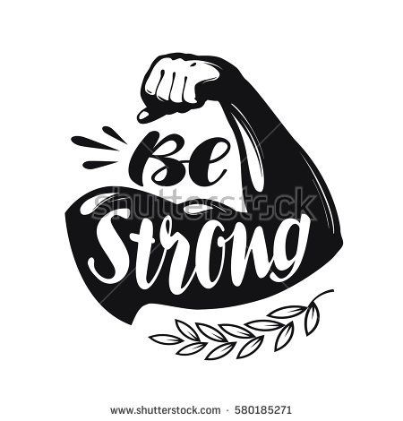 Be Strong Lettering Sport Gym Fitness Stock Vector Hd Royalty Free
