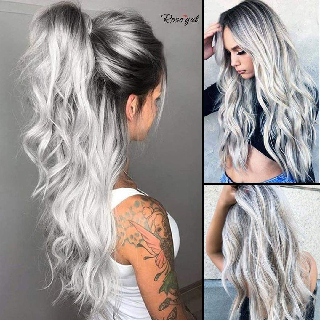Frisuren 2019 Hair Color For Black Hair Hair Styles Black Roots Blonde Hair