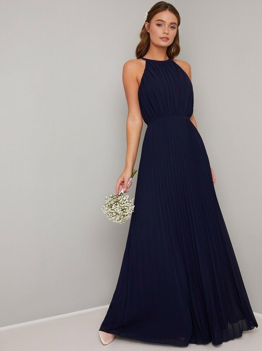 Vestiti Eleganti Blu.Abito Vestito Elegante Da Cerimonia Da Sera Da Matrimonio Lungo