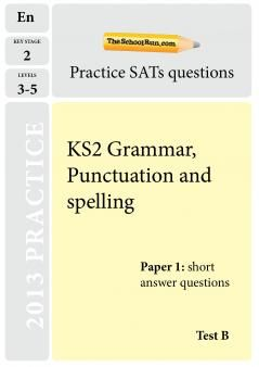 What is the Y6 Grammar, Punctuation and Spelling test? | Spelling