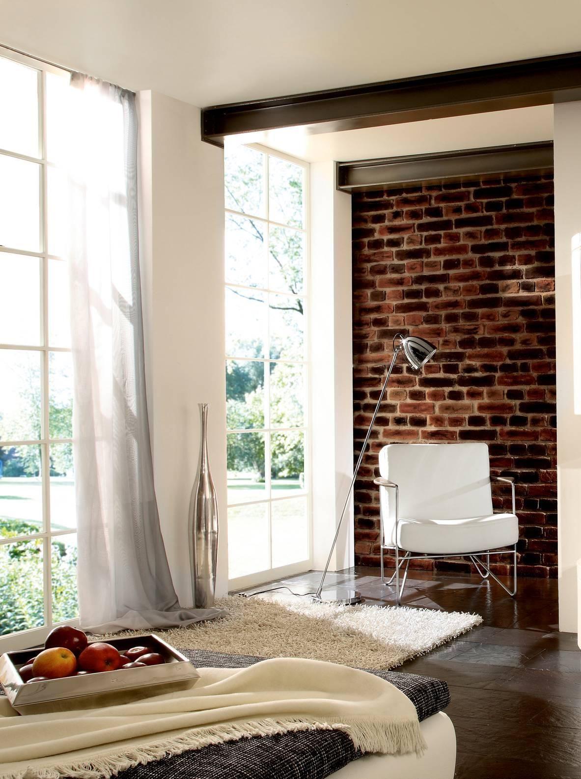 wandverkleidung mit backstein ladrillo | wandgestaltung wohnzimmer