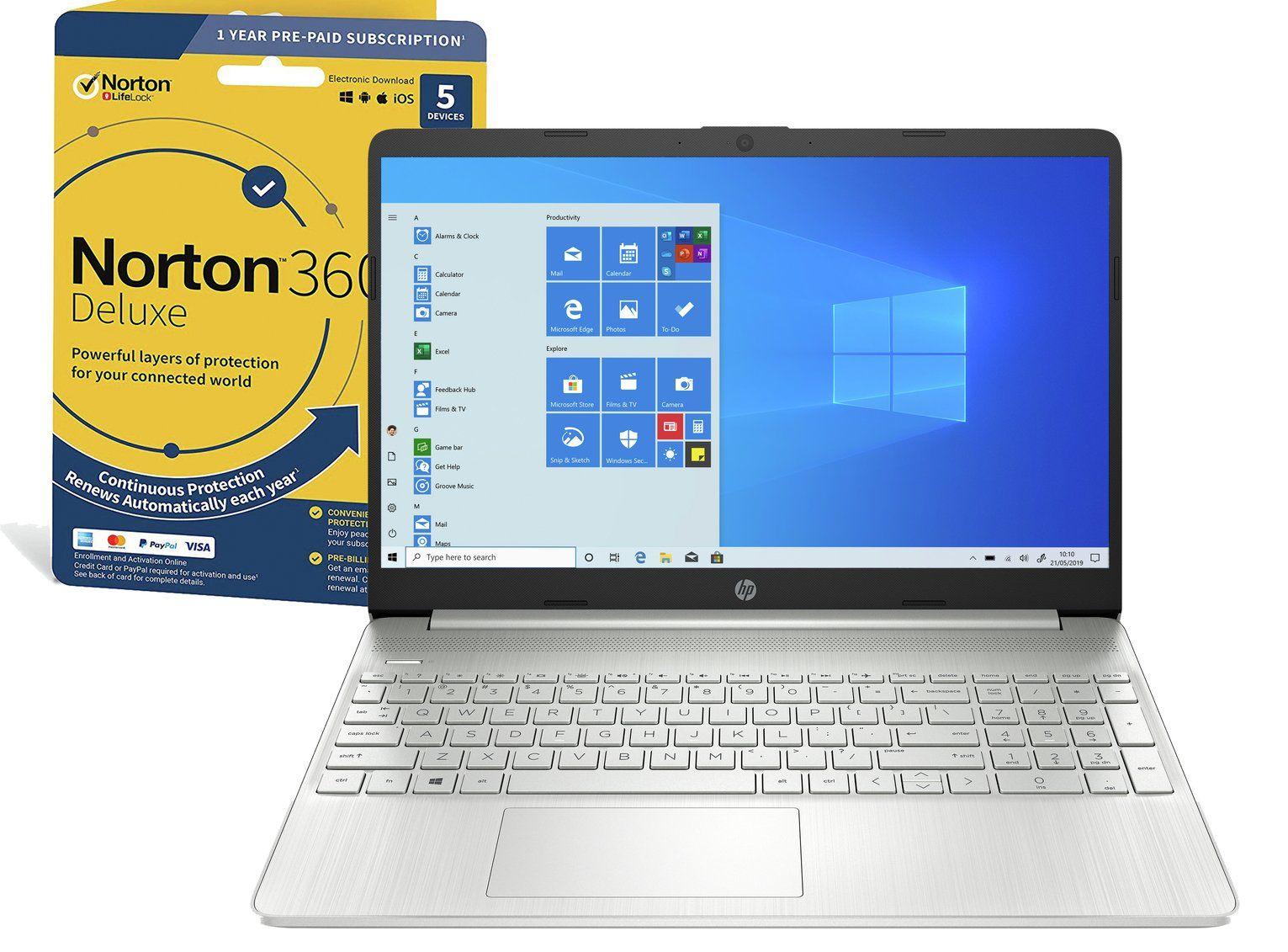HP Slim 15.6in i7 8GB 512GB FHD Laptop & Norton 360 £699