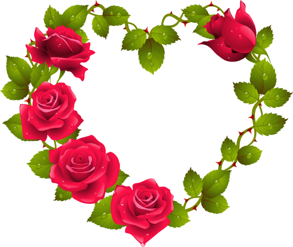 0014 png red roses clip art and frame wreath rh pinterest com free clip art roses and hearts