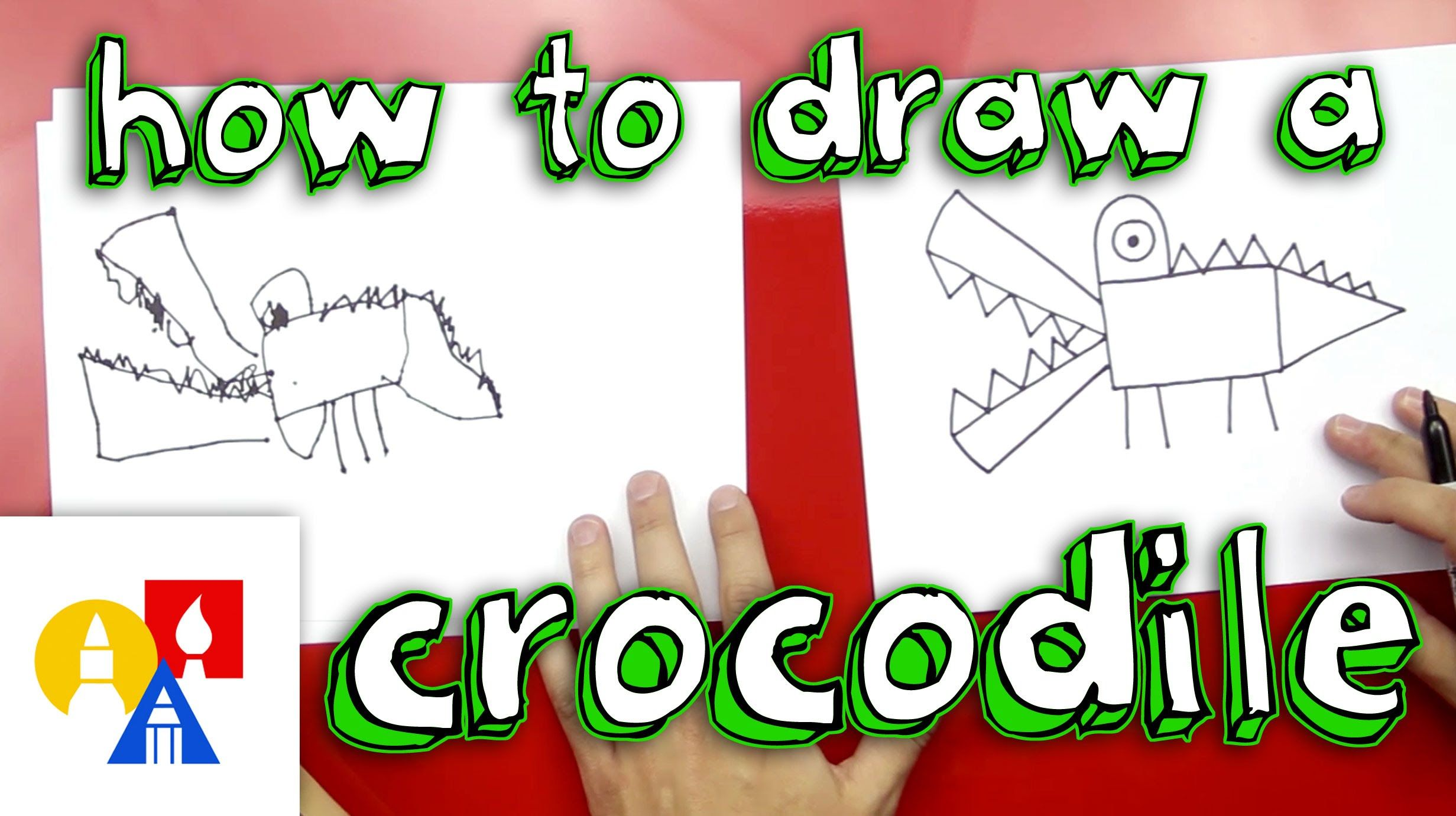 How To Draw A Crocodile For Young Artists