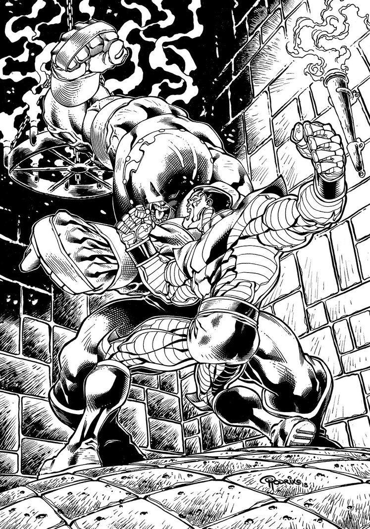 Colossus Vs Juggernaut Commission By Powrodrix Adult Coloring