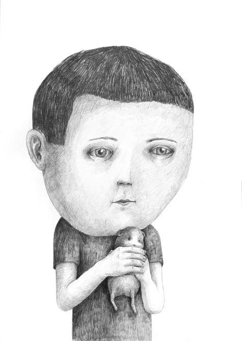 ✖ Drawings 2012 part 3 by Stefan Zsaitsits, via Behance