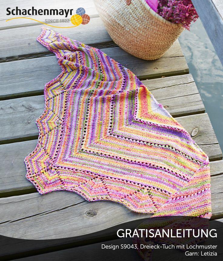 S9043 - Farbenfrohes Dreieckstuch aus Schachenmayr #Letizia ...