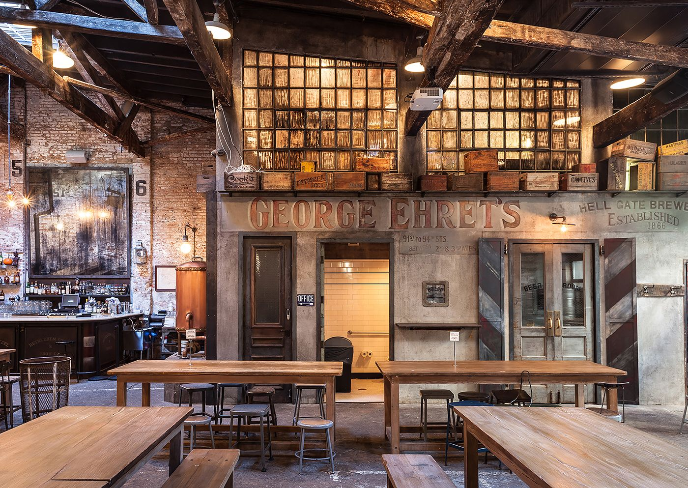houston hall is a beer hall located in new york city's west