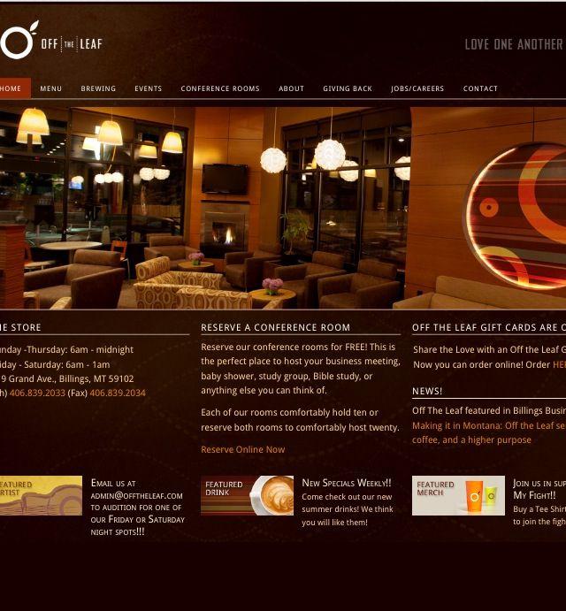 Off the Leaf Coffee Bar | Coffee bar, Coffee roasting, Coffee