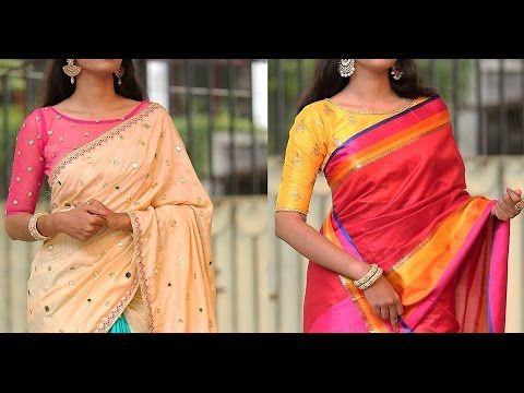 1e4b02c891a7f Latest Party Wear Saree Blouse Designs - YouTube