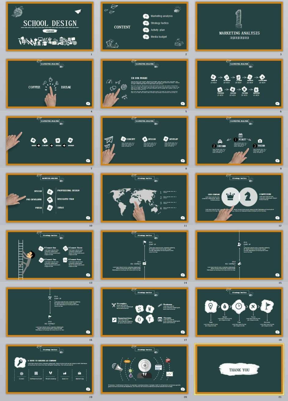 21 school style powerpoint templates best design business