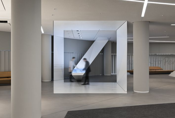 deutsche bank by coordination 展示设计 Anamorphic, Design
