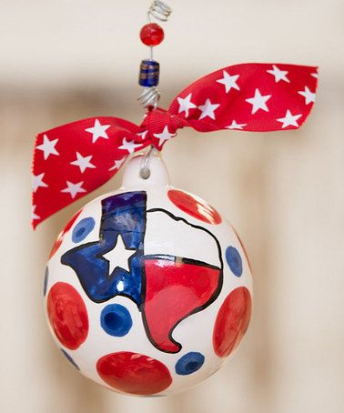 Take a look at this God Bless Texas Ball Ornament by Glory Haus on #zulily today!