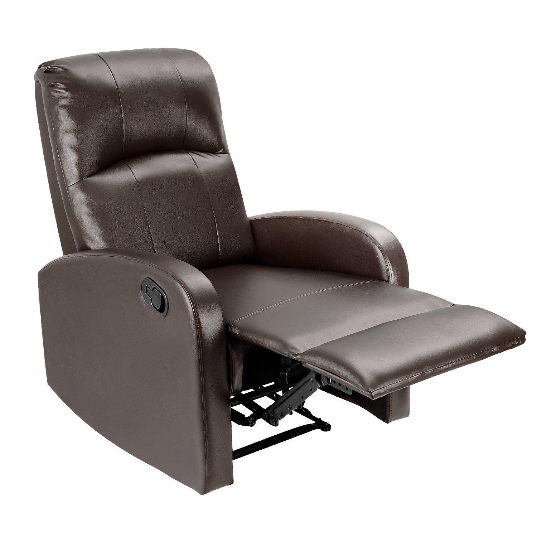 Jummico Manual Pu Leather Recliner Chair Single Sofa Armchair