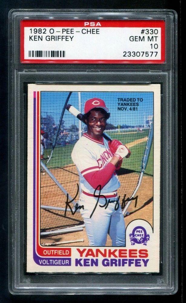 1982 o-pee-chee ken griffey - gem mint psa 10 - cincinnati reds - pop 3/0 from $35.0