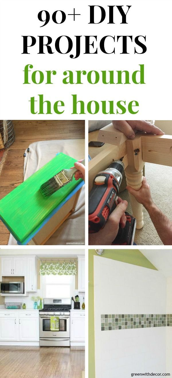90+ easy DIY projects and home improvement tips and ideas