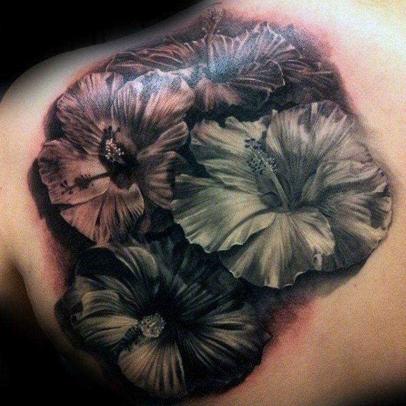 Best hibiscus flower tattoos hibiscus tattoo hibiscus